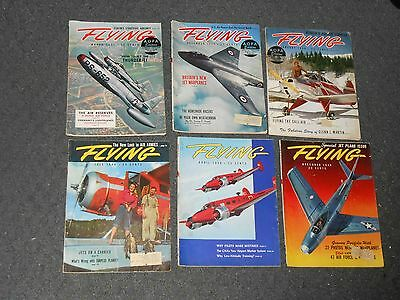6 Vintage 1948-50 FLYING Magazines Fair-Good Condition FREE SHIPPING