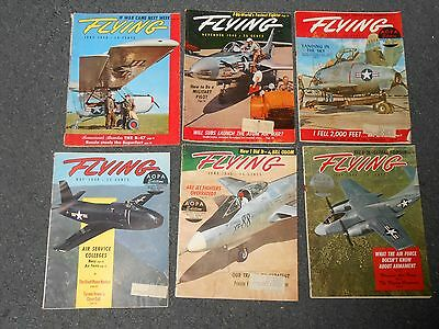 6 Vintage 1948-49 FLYING Magazines Fair-Good Condition FREE SHIPPING
