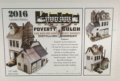 "O On3 CRAFTSMAN STONEY CREEK DESIGNS ""POVERTY GULCH DISTILLING KIT # 038"" NEWc"