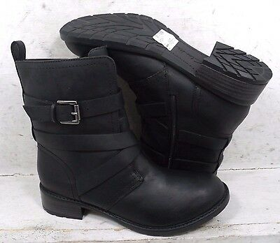 NEW Clarks Womens Swansea Tobin Black Leather 20385 Ankle Boots Shoes size 8 M