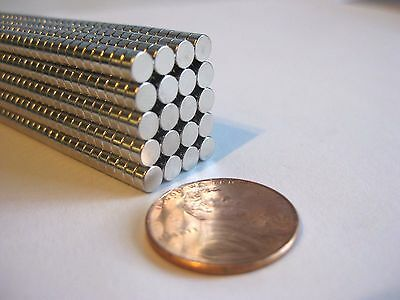 4mm x 2mm Neodymium Disc Magnets N35, New, Super Strong! -50, or 100 pcs-