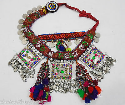 Kuchi Afghan Vintage Jewellery Dangles Belt Banjara Pendent Coin Necklace DB-049