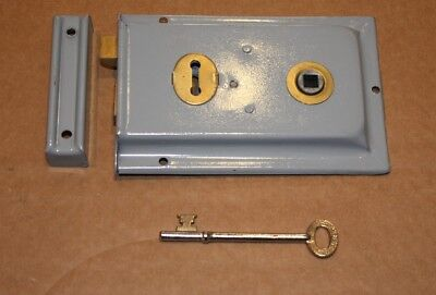 Period Style Steel & Brass Grey Latch And Lock Ace 432 7177