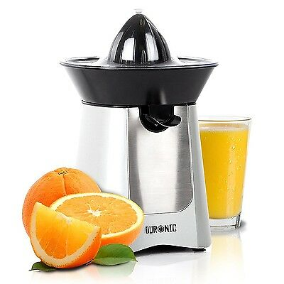 Duronic JE6SR Silver 100W Powerful Citrus Juicer Extractor with Drip Free Spout