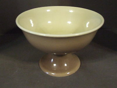 Vintage Mid Century Red Wing Tan Brown Pedestal Bowl #5022