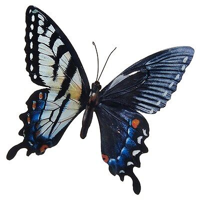 LARGE METAL COLOURFUL BUTTERFLY GARDEN DECORATION WALL ART 31cm x 35cm 270820