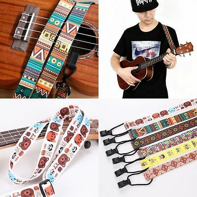 2017 New Adjustable Nylon Ukulele Strap Sling With Hook For Ukulele Guitar