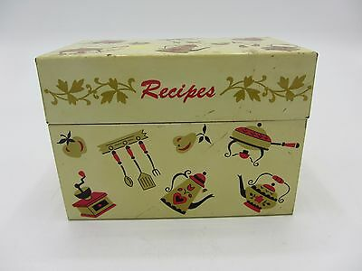Vintage Ohio Art Metal Recipe Box With Cards