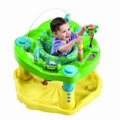 Exersaucer BOUNCE LEARN Baby ACTIVITY CENTER, Zoo Friends secure learn play