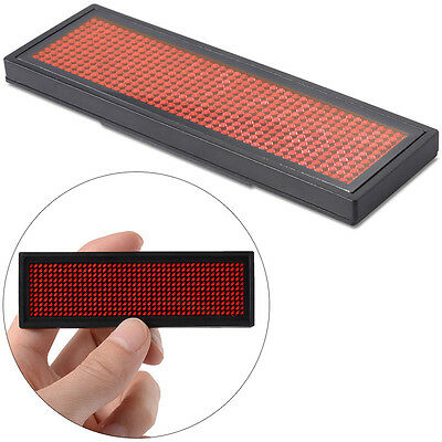 Programmable Red LED Scrolling Bar KTV Badge Name Tag Message Display Sign Board