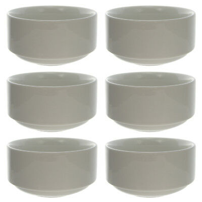 6 Oneida 9.5oz White Undecorated Tundra Bouillon Bowls Dish Restaurant Bulk Lot