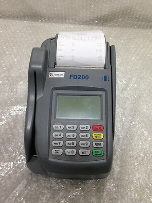 First Data FD-200 Credit Card Check Terminal  /  No Power Supply