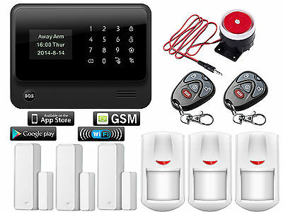 V16 IOS/Android WIFI IP APP GSM SMS Wireless Home Security Alarm Burglar System