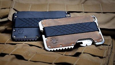 Dango Tactical EDC Wallet (Made in USA) - Genuine Leather, MultiTool, RFID Block