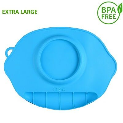 """Silicone Large Feeding Placemat for Kids 17.5"""" x 11.5"""""""