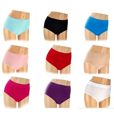 Breezies Seamless One (1) Full Brief Panty A262697 CHOICE OF COLORS & SIZES