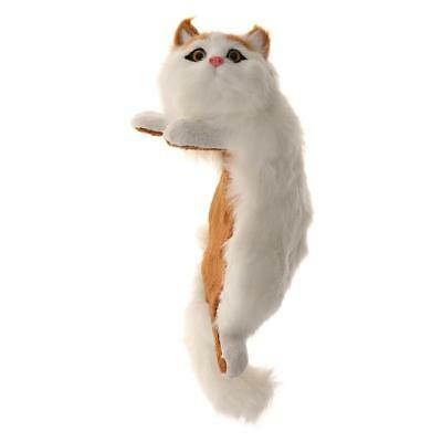 Realistic Yellow Ear Cat Plush Faux Fur Kitten Hanging Ornament Collection