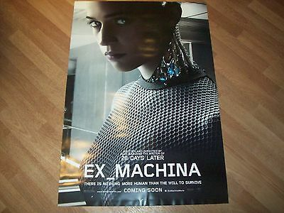 Ex_machina Cinema one 1 sheet Poster d/s full size ORIGINAL Vikander Garland