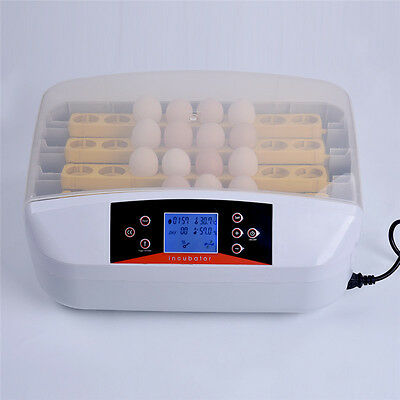32 Digital Clear Egg Incubator Hatcher Automatic Egg Turning Temperature ControL
