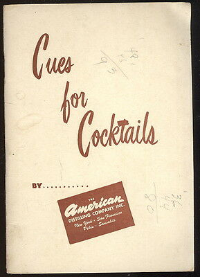 1950 Booklet Advertising The American Distilling Co. Products, Whiskey +