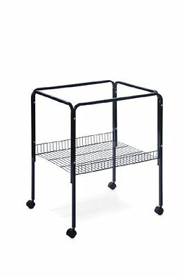 Prevue Pet Rolling Stand with Shelf Black