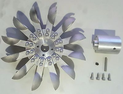 Pelton Water Wheel Turbine, Aluminum, Micro Hydro Generator w/Adapter free ship