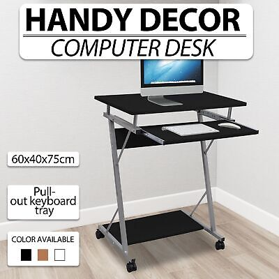 Black/Brown/White Office Computer Desk Student Table Pull-out Tray Furniture