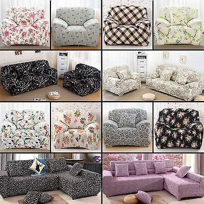 Elastic Sofa Cover 1 2 3 4 Seat Stretch Slipcover Couch Protector L Shape