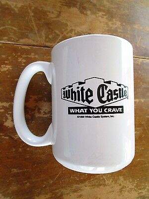 """White Castle Restaurant Diner Coffee Mug Cup """"What you Crave""""  NICE"""