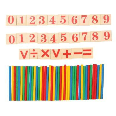 Kids Math Counting Toys Wooden Numbers Sticks Set For 3+ Years Old