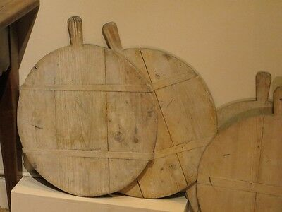 First half 19th Century French pine cheese board. Vintage. Antique.