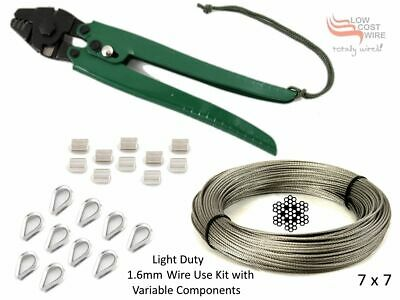316 Grade Stainless Steel Wire Rope 1.6mm 7x7 Fishing Trace Tool Crimp Thimble
