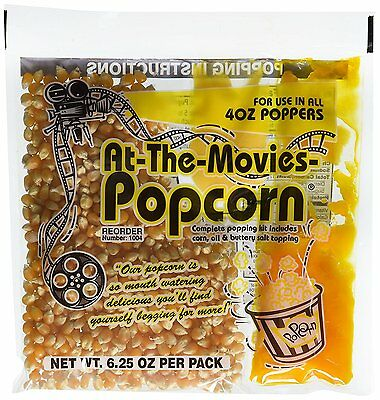 At-The-Movies Popcorn & Coconut Oil Portion Packs-Case of 24 4oz Kettle