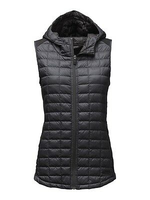 NWT THE NORTH FACE Women's MA Thermoball Hooded Vest TNF Black Size M