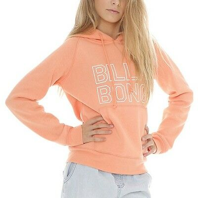 New + Tag Billabong Jumpin Girls (10) Hoodie Jumper Fleece Pullover Papaya Punch