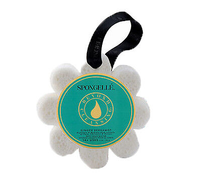 Wild Flower Shaped Bath Sponge Ginger Bergamot Infused by Spongelle