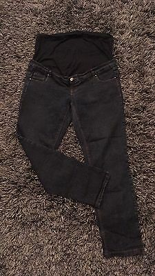 Maternity UK 16 NEW LOOK Skinny Over Baby Bump Jeans Short Or Crop
