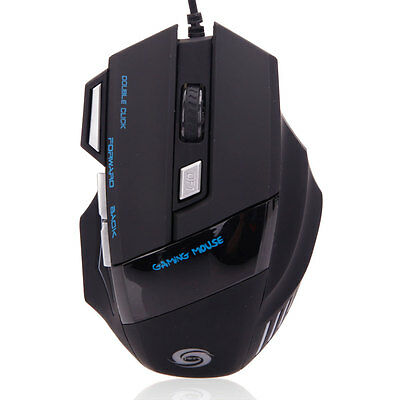 USB 2.0 LED Optical 5500 DPI Wired Game Mouse 7-Button Mice For Pro Gamer