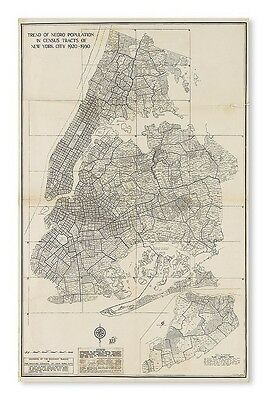(CIVIL RIGHTS.) NEW YORK CITY. Trend of Negro Population in Census Tr... Lot 242