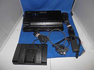 Sanyo TRC-8800 Standard Cassette Recorder and Transcriber Complete System