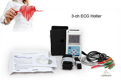 CONTEC Dynamic ECG EKG System 24 hours holter USB PC software 3-CH,5-LEADS