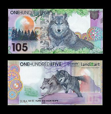 Landqart Durasafe * 2 Test Notes * Wolf * Unc