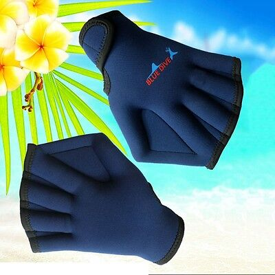 Adult Swim Webbed Neoprene Training Fins Hand Paddle Surfing Diving Swim Gloves