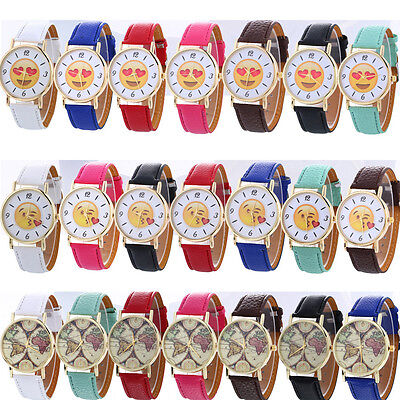 Fashion Women Ladies Stainless Steel Leather Band Quartz Analog Wrist Watch Hot