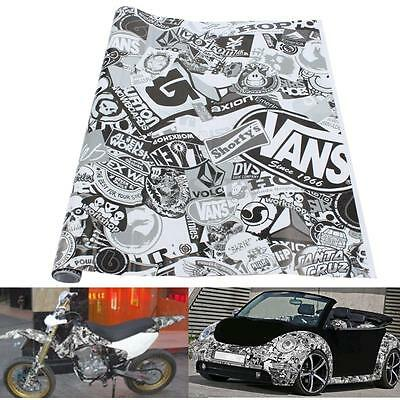 20'' x 60'' Cartoon Graffiti Bomb Car Sticker Decal  Vinyl Wrap Sheet Motorcycle