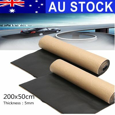 AU 2X Self Adhesive Car Sound Proofing Deadening Insulation 5mm Closed Cell Foam