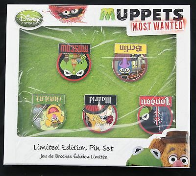 Set Of 5 New In Box DISNEY Muppets Most Wanted Limited Edition Pin