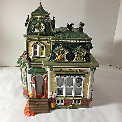 Dept 56 Halloween Haunted Mansion w/ Rotating Projection Screen 54935 Works