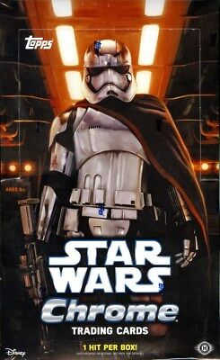 Topps Star Wars The Force Awakens Chrome Hobby Box Blowout Cards