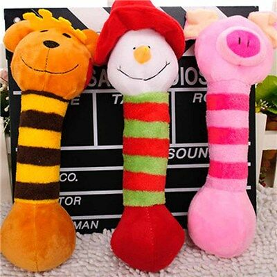 New Creative Pet Dog Cat Puppy Toy Cute Plush Chew Squeaky Training Supplies